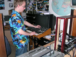 Marcus in seinem Heimstudio