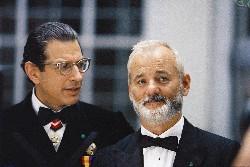 Steve Zissou und sein Widerpart Alistair Hennesey (Bill Murray, r., Jeff Goldblum)