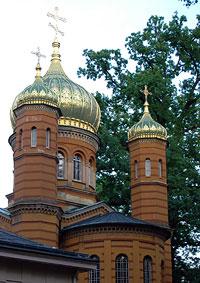 Die goldene Kuppel der Fürstengruft auf dem Weimarer Friedhof: hier wurden Goethe und Schiller bestattet