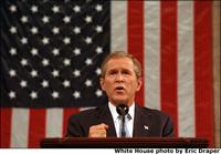 Präsident Bush bei einer Rede vor dem Kongress