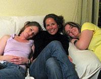 Ein gemütlicher Mädelsabend unter Erasmus-Studentinnen...