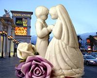 Heiraten in der Glitzermetropole Las Vegas ist fast so einfach, wie das Einkaufen im Supermarkt