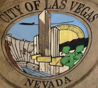 Bild auf einem Mülleimer in Downtown. Las Vegas ist stolz auf sich und seine stetig wachsende Einwohnerzahl. Besonders beliebt ist Bürgermeister Goodman, welcher behauptet, den schönsten Job der Welt zu haben