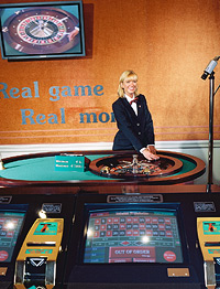 Per Webcam wird hier das Roulettespiel an tausende Computer weitergeleitet. Leichtsinniges Klicken kann das Konto um viel Geld erleichtern