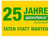 Greenpeace feiert mit seinen kleinen Helfern seinen 25 jährigen Geburtstag und das 15 jährige Bestehen der Greenteams.