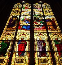 Das Fenster einer Kirche