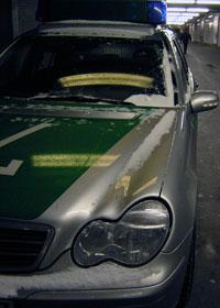 Polizeiauto - Jürgen A. fährt als Kriminalkommissar nur noch selten Streife. Auch trägt er im Dienst keine Uniform mehr