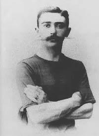 Pierre de Coubertin, französischer Baron und Verantwortlicher für die Wiederbelebung der Olympischen Spiele im Jahr 1896