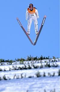 Der Österreicher Andreas Widhoelz bei der letzten Winterolympiade in Salt Lake City