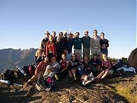 Erasmus-Gipfelstürmer nach 6 Stunden Aufstieg endlich auf der Spitze der Roche Ecrite