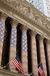 Die New York Stock Exchange. Größte Wertpapierbörse der Welt und mitten im Herzen des Finanzdistrikts