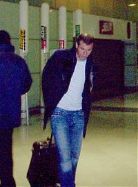 Zinédine Zidane im Flughafen Paris-Roissy, Februar 2004